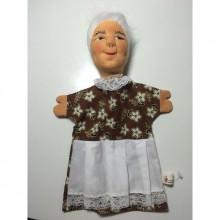 DRESDNER Handspielpuppe Kasperlepuppe Oma ohne Bein
