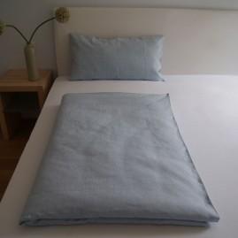 Bettwäscheset feines LEINEN Farbe Hellblau versch. Größen