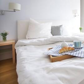 Bettwäscheset feines LEINEN Weiß versch. Größen