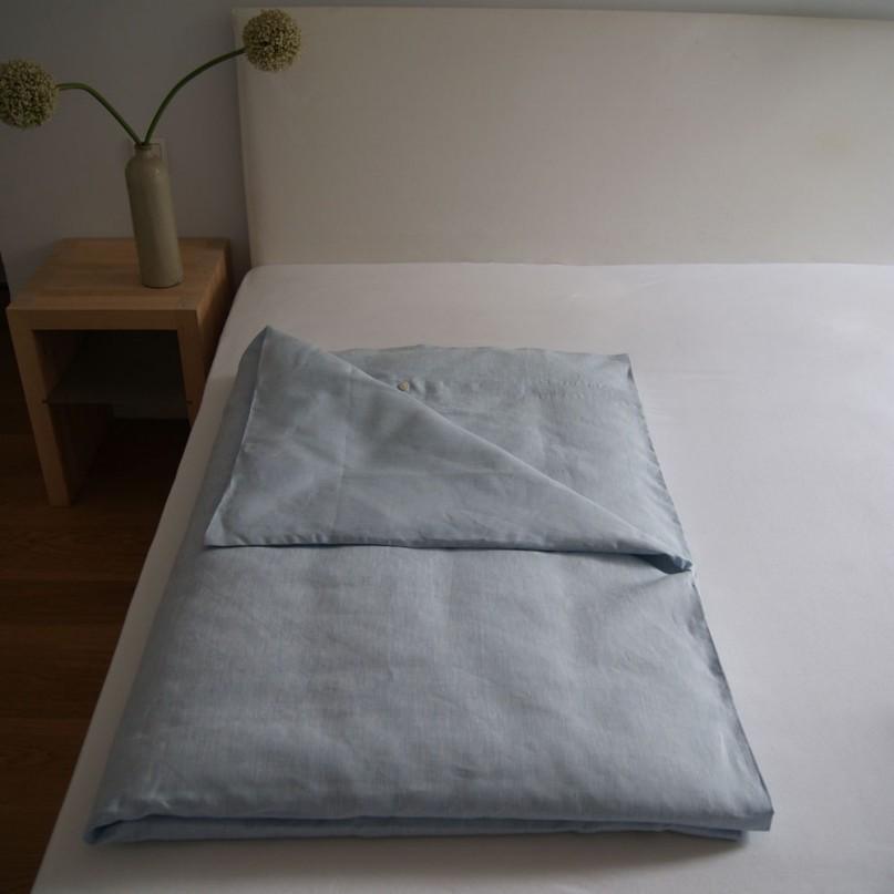 bettbezug oberlausitzer leinen hellblau verschiedene gr en. Black Bedroom Furniture Sets. Home Design Ideas