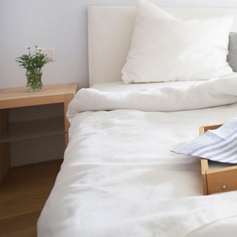 bettw scheset leinen wei rohwei oder natur 135x200 cm. Black Bedroom Furniture Sets. Home Design Ideas