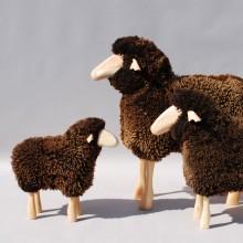 MEIER Echtfell-Schaf lebensgroß weiß oder braun Outdoor