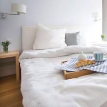 Bettwäscheset LEINEN Weiß Rohweiß oder Natur 200x220 cm