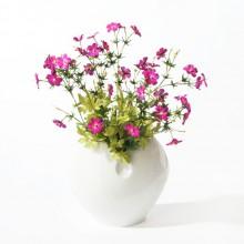 SEBNITZER Kunstblume Seidenblume Storchschnabel