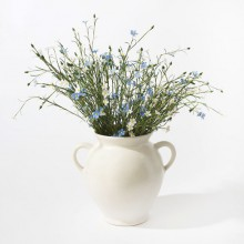 SEBNITZER Seidenblume Flachs Blau oder Weiß