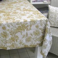 Tischdecke versch. Farben 150 x 200 cm LEINENDAMAST Chrysantheme