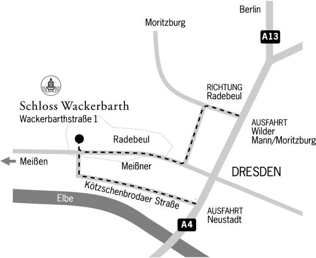 Anreise Schloss Wackerbarth